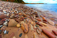 Colorful cobble, Miners Beach, Pictured Rocks National Lakeshore, Upper Peninsula, Michigan, October 12, 2018