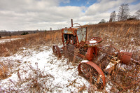 Long-abandoned tractor, Licking County, Ohio, January 8, 2017