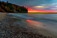 Pictured Rocks National Lakeshore, Miners Beach sunset, Upper Peninsula, Michigan, October 13, 2018